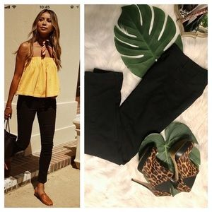 H & M black stretchy skinny jeans size 6!